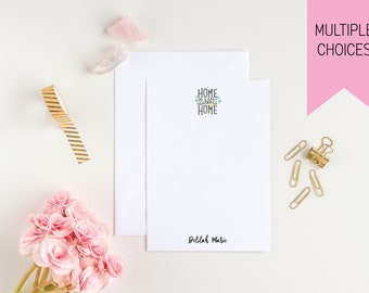 Home Sweet Home Personalized Notepads