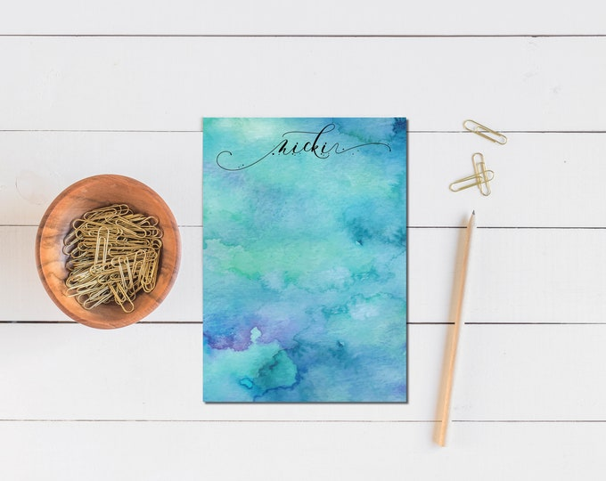 Blue Watercolor Notepad