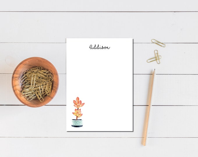 Tall Succulent Notepad