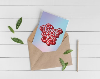 Colorful Thank You Card Set