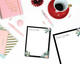 Bold Floral Notepad Set