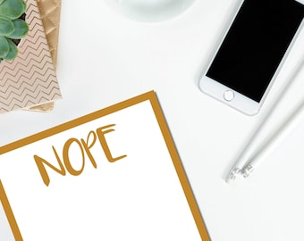 Nope Gold Notepad