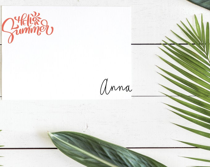 Hello Summer Personalized Notecards