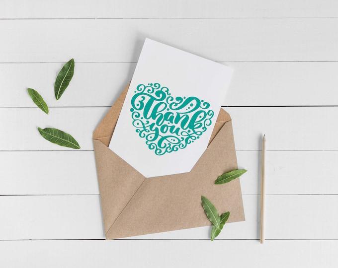 Thank You Heart Card Set