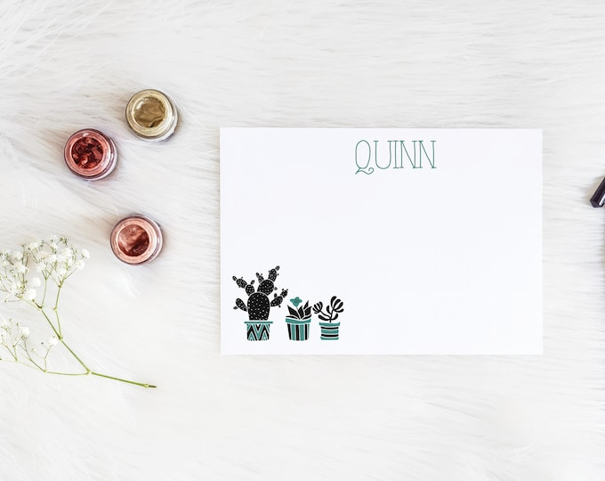 Cactus Family Personalized Notecards