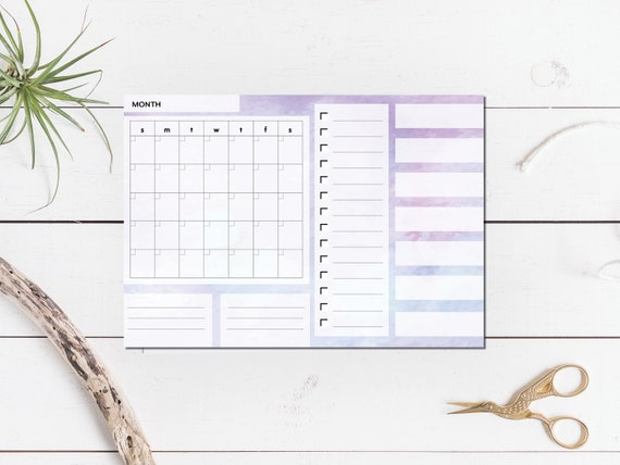 Purple Large Monthly Planner