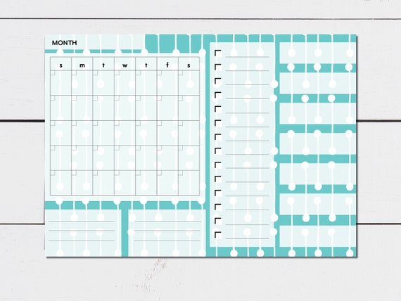 Large Monthly Planner Floral