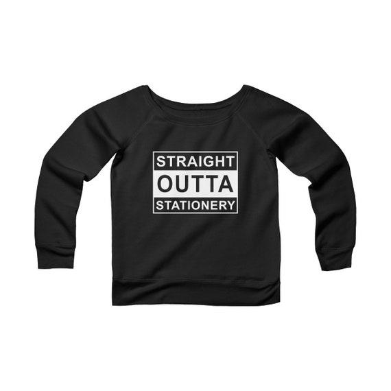 Outta Stationery Women's Sponge Fleece Wide Neck Sweatshirt