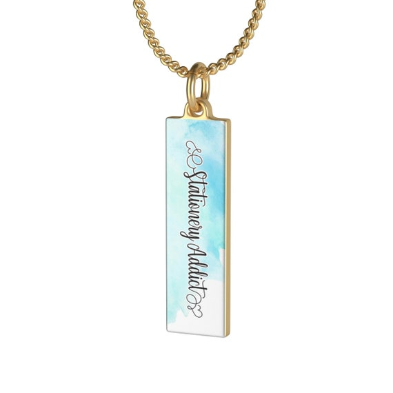 Stationery Addict Single Loop Necklace
