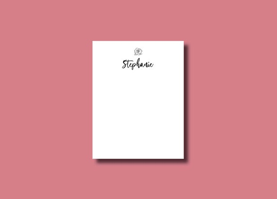 Simple Flower Personalized Notepad