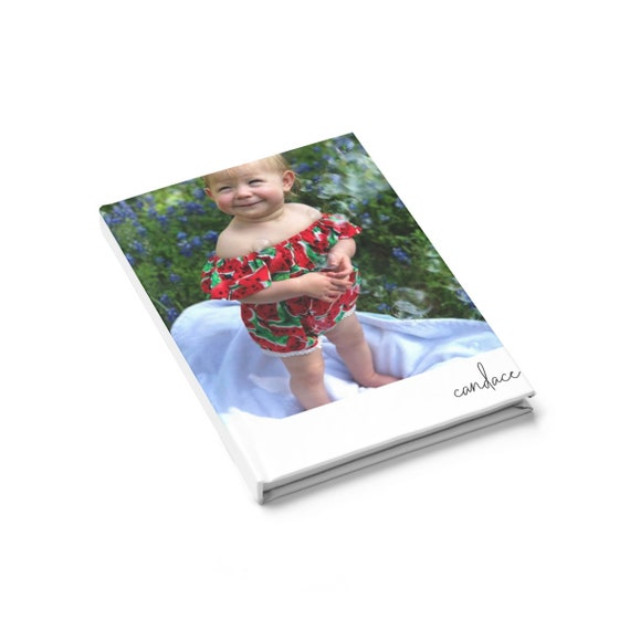 Personalized Photo and Name -  Hard Cover Journal - Ruled Line