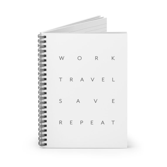Travel Save  Spiral Notebook - Ruled Line