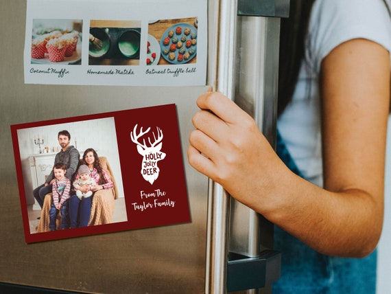 Holiday photo magnet