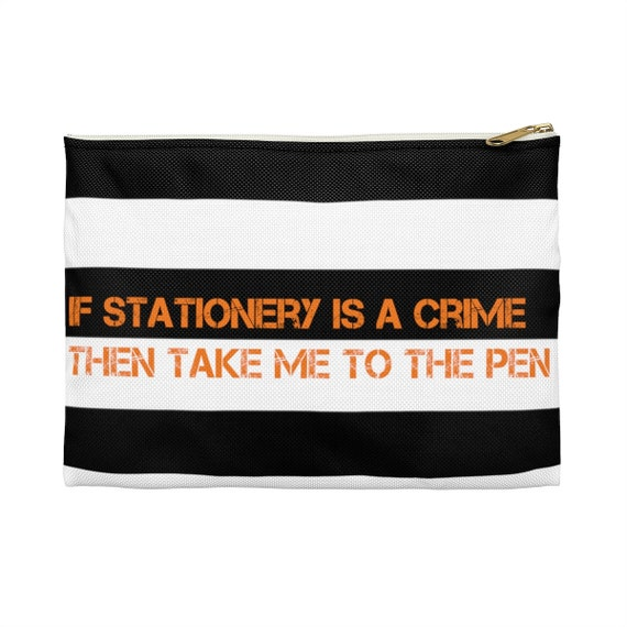 Stationery Crime Large Stripes Accessory Pouch