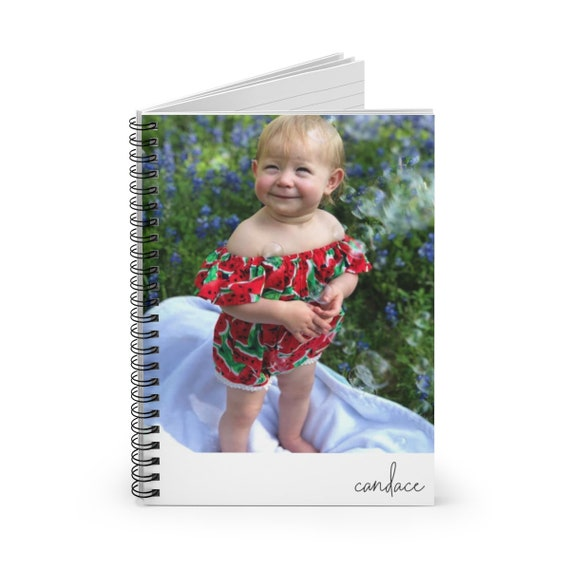 Custom Photo Personalized Spiral Notebook - Ruled Line