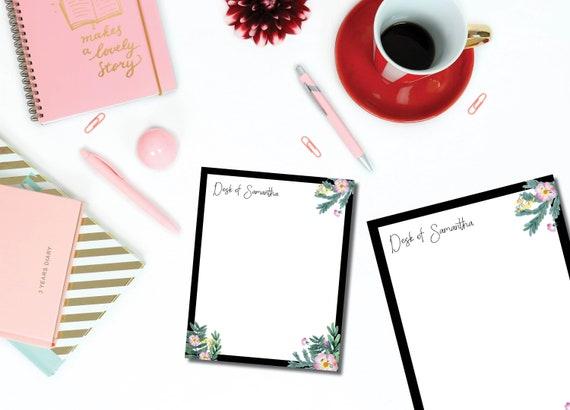 Bold Floral Notepad Set