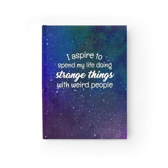Galaxy Strange Things  -  Hard Cover Journal - Ruled Line