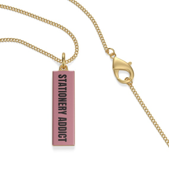 Stationery Addict Rose Necklace Single Loop Necklace
