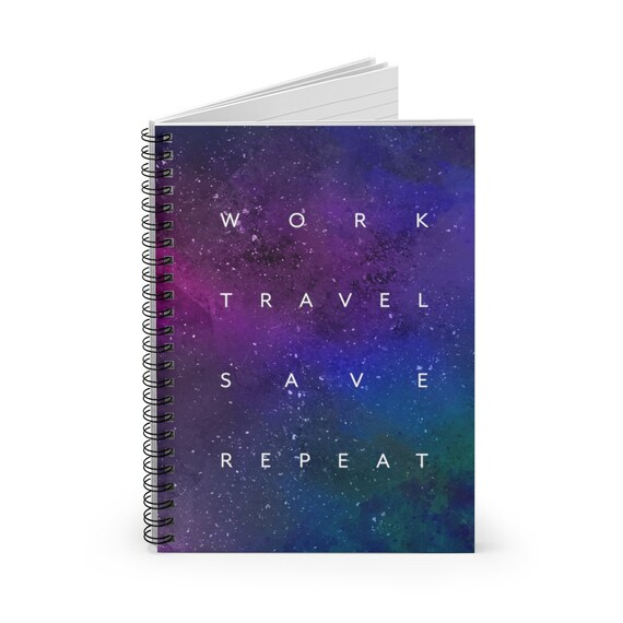 Galaxy Spiral Notebook - Ruled Line