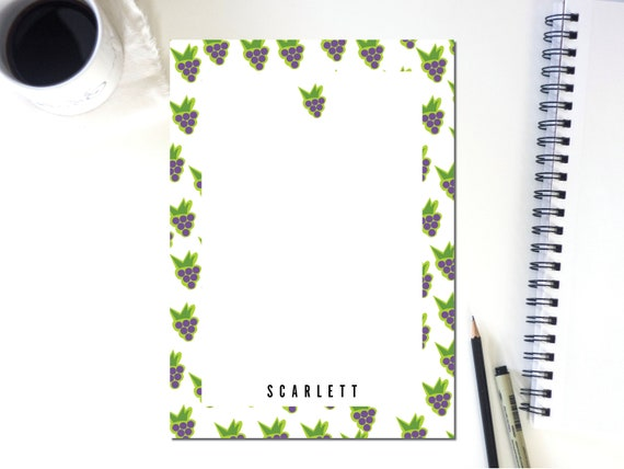 Personalized Grape Notepad
