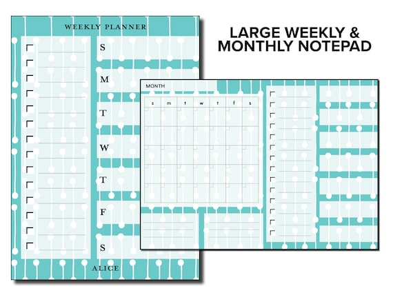 Large Weekly and Monthly Planner