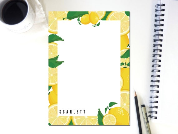 Personalized Notepad Illustration Lines
