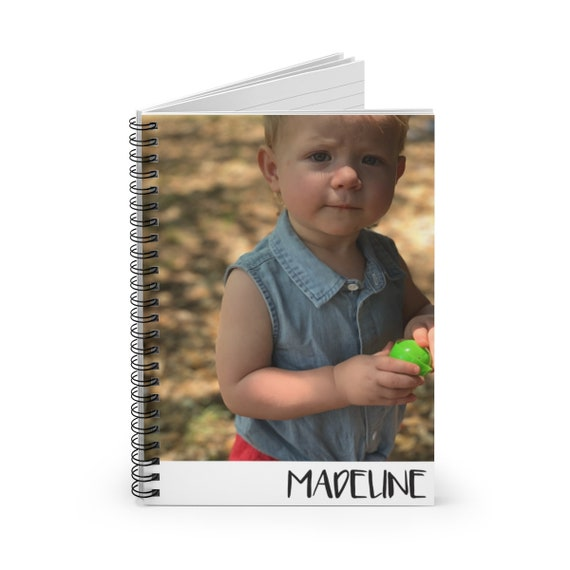 Custom Photo Personalized Spiral Notebook - Ruled Line | Fun Font Option