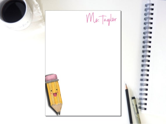 Personalized Pencil Note Pad