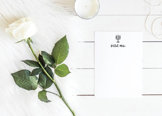 Candelabra Personalized Notepads