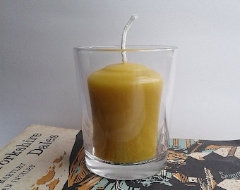100% Pure Beeswax Votive Candle