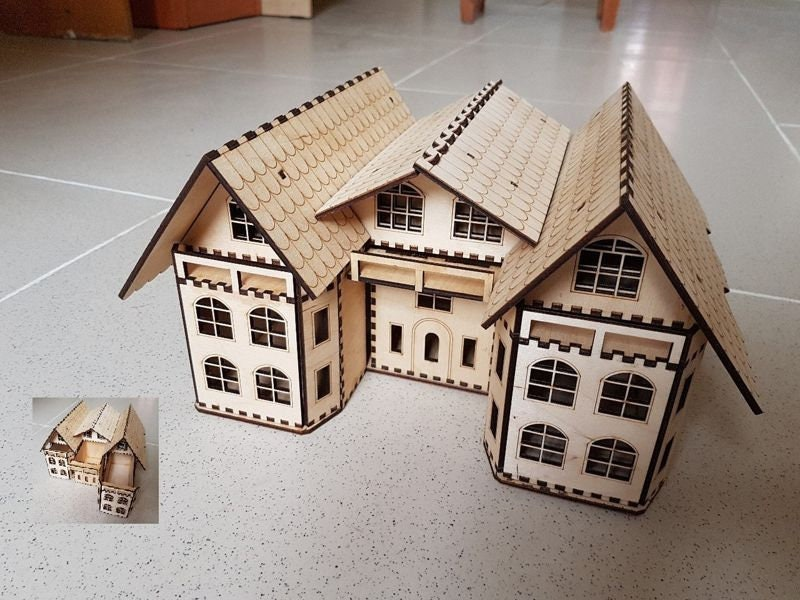 Groovy House 3Mm Design For Laser Cnc And Cnc Milling Vector Cutting Plan 3D Puzzle Cnc File Download Free Architecture Designs Scobabritishbridgeorg