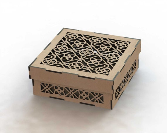 Gift Box Digital Design Design For Laser Cnc And Cnc Milling Vector Cutting Plan 3d Puzzle Cnc File