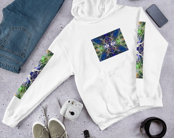 Higher Consciousness with Front and Arm Print Hoodie / Hooded Sweatshirt