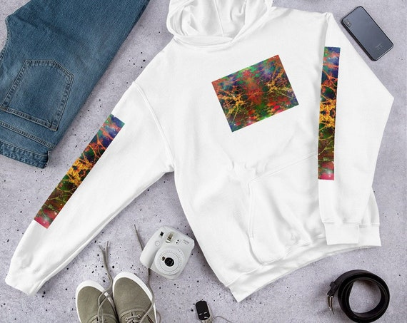 One Love Front and Arm Printed Unique Design Hoodie / Hooded Sweatshirt - UNISEX