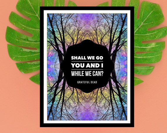 Grateful Dead Art Print Poster - Dark Star Lyrics - Deadhead Artwork - Unique Trippy Background