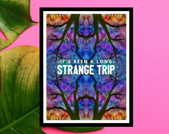 It's Been A Long Strange Trip - Premium Colorful Unique Art Print - Grateful Dead - Deadhead Gift