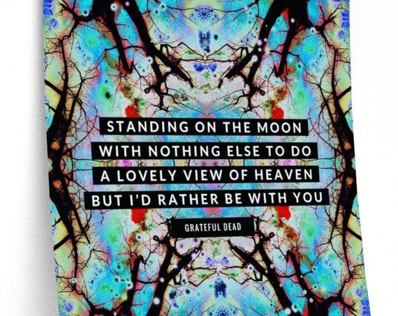 Standing on the Moon Premium Matte Print - Unique Colorful Art Made from Nature Pics!