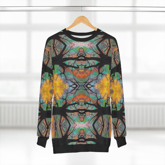 All Over Print - Interconnected Tree Design Sweatshirt