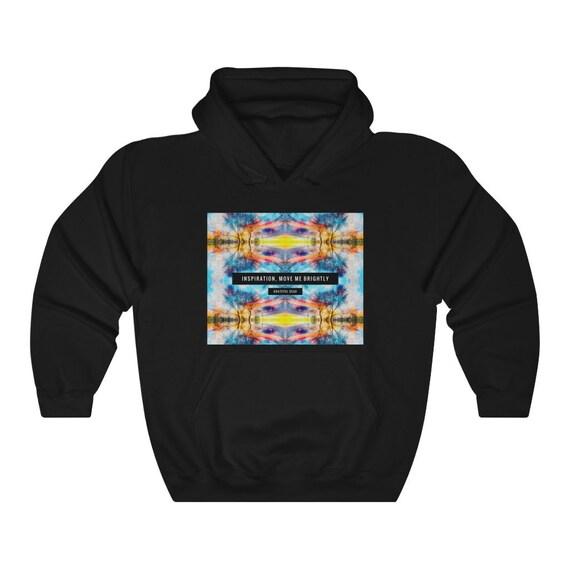 Inspiration, Move Me Brightly - Grateful Dead Lyrics Art on Hooded Hoodie Sweatshirt - Deadhead Hoody