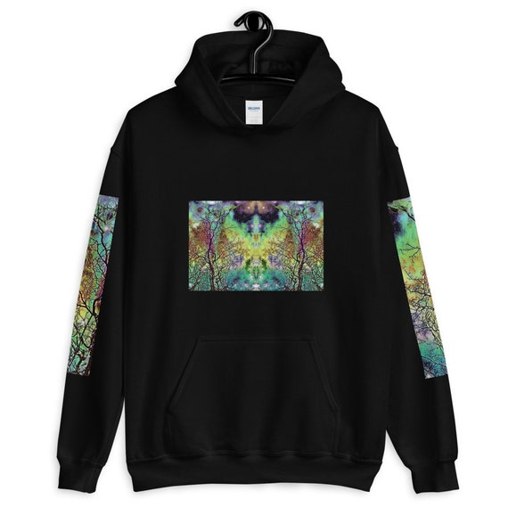 Rainbow Tree Art Print Designer Sweatshirt, Hoodie - Unisex