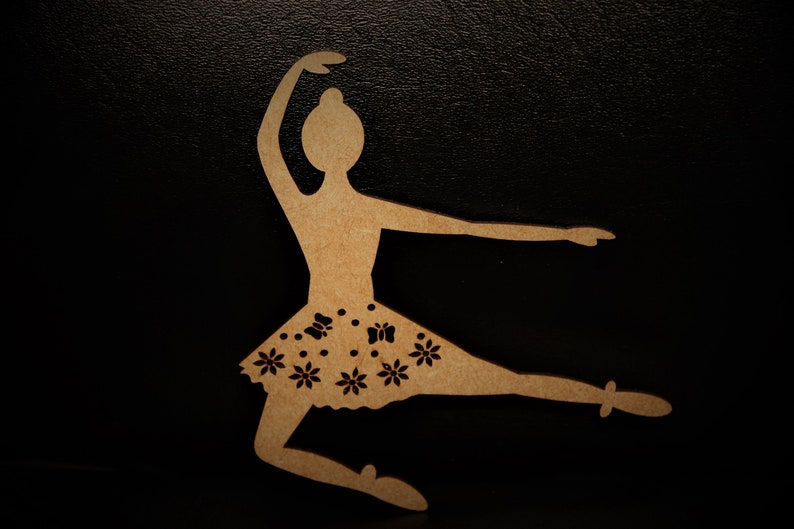 Ballerina Decoration Unfinished Dance Decor Ballerina Decor Ballerina Wooden Cutouts Ballerina Wood Ballerina Wall Art Laser Cut