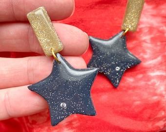 Star Stud Dangles
