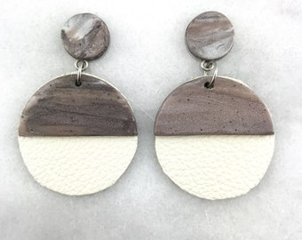Polymer clay earrings, statement earrings, push back, polymer clay, dangle earrings, drop earrings, clay, Woman, Girl, Trendy