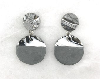 Polymer clay earrings, handmade, clay earrings, polymer clay, large earrings, dangle earrings, statement earrings, drop earrings, clay