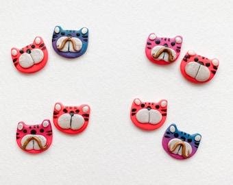 Tiger stud earrings