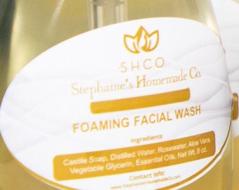 All-natural Foaming Facial Wash | Face Wash | No Harsh Chemicals | No Toxins | Gentle ingredients | Plant based