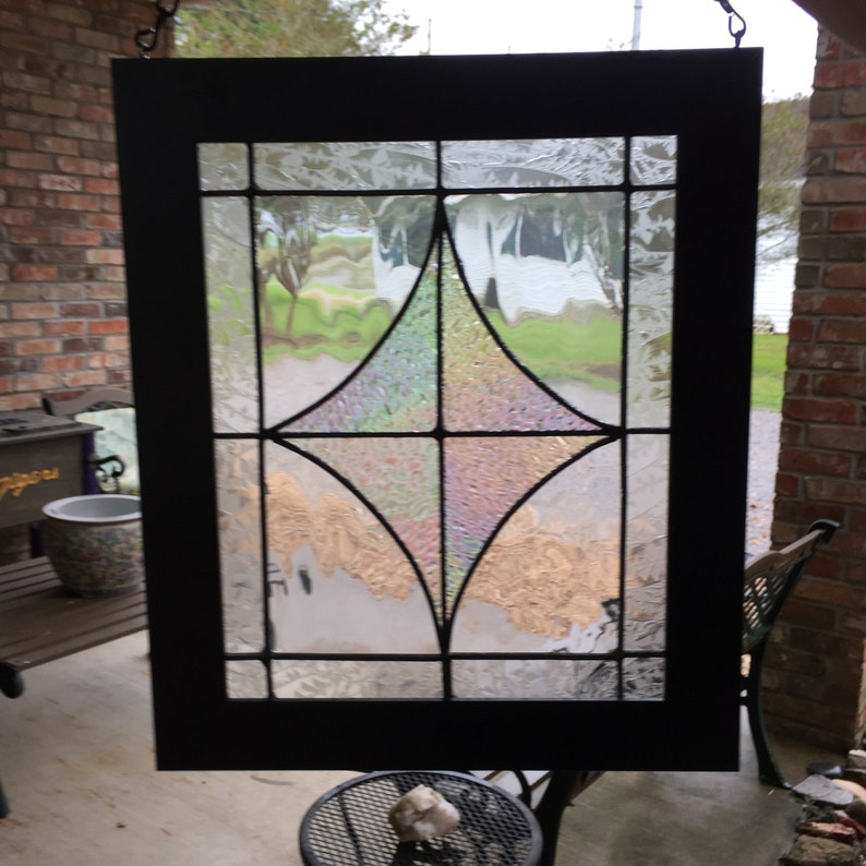 Clear Stained Glass Panel Home Decor Window