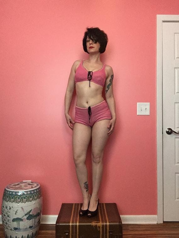 60s Pink Bikini