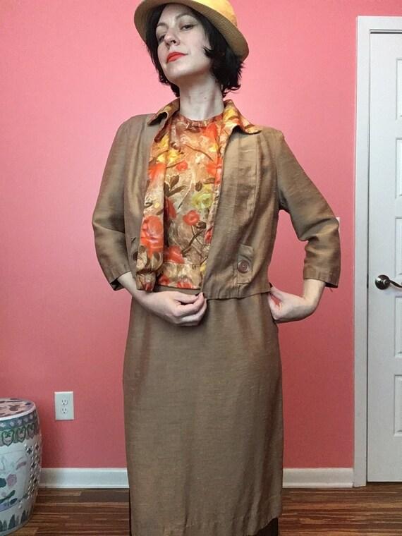 50s Silk Suit