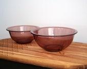 Cranberry Pyrex Nesting Mixing Bowls 322 323
